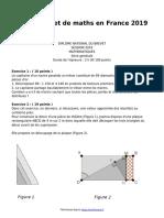 brevet-de-maths-en-france-2019
