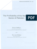 PIDE research article for determinants of profitablity of banking sector in pakistan