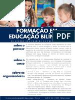 FORMAÇÃO EM EDUCAÇÃO BILÍNGUE