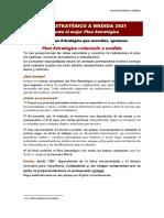 Información Plan Estratégico a Medida 2021