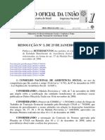 Resolução - 003 - 23.01.2009 - Renovação Art. 37