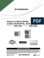 Manual de Instalación Condensadora 4TTK0560D1000BL