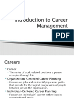 Introduction to Career Management