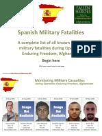 Spanish Military Fatalities