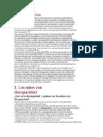 desarrollo del niño en la primera infancia y su discapacidad (documento de debate)