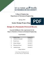 Design Pneumatic Powered Bicycle