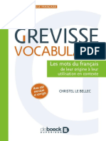 Le Grevisse Vocabulaire