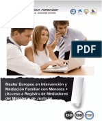Master Intervencion Mediacion Familiar Menores