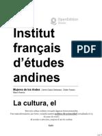 Mujeres de los Andes - La cultura, el genero y la fecundidad. Un acercamiento a la reproducción del campesinado andino en el Ecuador - Institut français d'études andines