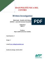 Written Investigation