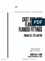ASME B16.1 Cast Iron Pipe Flanges and Flanged Fittings Class