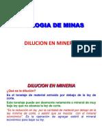 Dilucion en Mineria