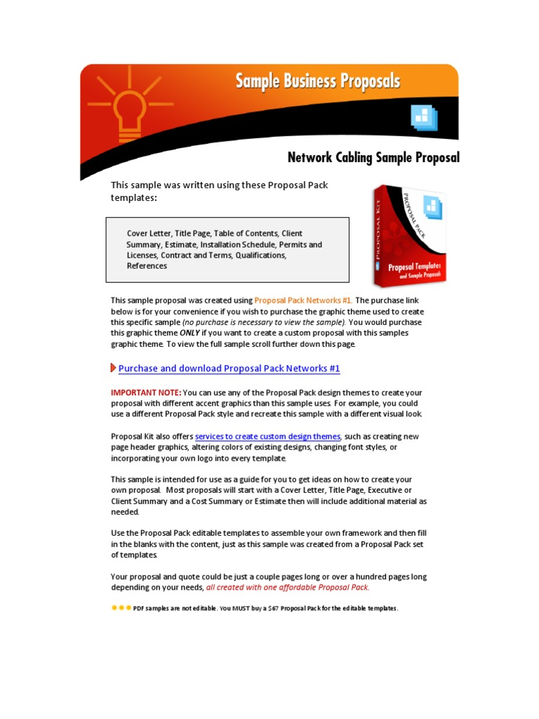 Sample-Networking-Proposal | Computer Network | Network Switch
