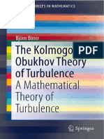 The Kolmogorov-Obukhov Theory of Turbulence_ A Mathematical Theory of Turbulence_Bjorn Birnir