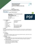SILABO DE TALLER DE INVESTIGACION 1