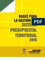 Bases para la gestion del sistema presupuestal
