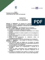 Normativo y lineas de investigacion de SEMINARIO
