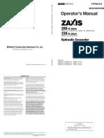 Zaxis 280-5 Excavator Operators Manual