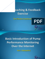 Micro Teaching Exercise - Basic Introduction of Pump Performance Monitoring Over the Internet. K J Darbyshire