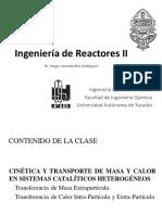 5. Cinética y Transporte en Sistemas Catalíticos Heterogéneos - Transporte Extrapartícula