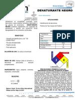 Denaturante negro ficha técnica CL