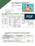 ACTIVIDAD DE APOYO A LOS ESTUDIANTES 10 de noviembre DEL 2020