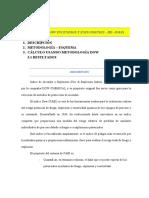 EJERCICIO INDICE DOWN