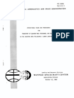 Operational Plans and Proceedures for Transport of Quarantined Personnel and Equipment in the Houston Area Folowing a Lunar Landing