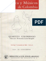 Programa-Cuarteto Colombiano 1999