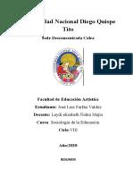 jose luis farfan valdez resumen videosociologia de la educación X