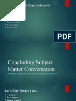 Subject Matter Conversation 2 DCR 202040