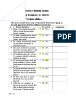 3.Interface Design Testing (Heuristics)