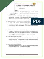 CUESTIONARIO - PRIMERA - CULTURA DE LA CALIDAD- ARCE TUCTO
