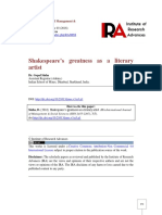 Shakespeare s Greatness as a Literary Ar-1