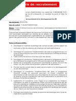 Chargé(e) de recrutement et du développement des RH