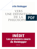 Vers une definition de la philosophie - Martin Heidegger