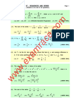 Mathematics Sequence Series Mcq