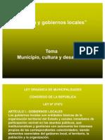 Cultura y Gobiernos Locales