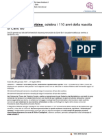 L'Università di Urbino celebra i 110 anni dalla nascita di Carlo Bo - Il Metauro.it, 22 gennaio 2021
