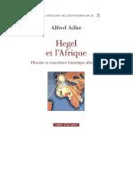 Alfred Adler  - Hegel et l'Afrique