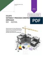 CCL2371 - Apuntes de Clases Sistemas y Procesos Constructivos Especiales