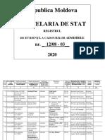 Registrul Cadourilor Admisibile Cs 2020