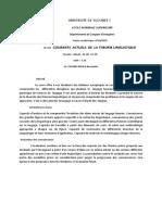 ENS LETRAN UE 421 Courants actuels de la théorie linguistique-1