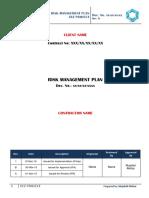 1. Risk Management Plan - Template