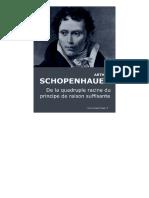 Schopenhauer-De la quadruple racine du principe de la raison suffisante
