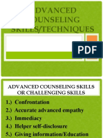 Advanced Counseling Techniques