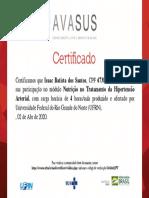 Nutrição no Tratamento da Hipertensão Arterial_Certificado de Conclusão