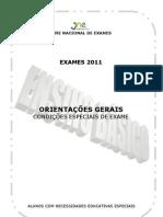 Orientacoes Gerais EBasico alunos com NEE exames 2011