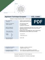ETA 11 0493 Pour Mortier Dinjection HIT-HY 200-A Et Elements Standard Pour Chevillage ETAG 001-05 Option 1 Homologation ASSET DOC APPROVAL 0189