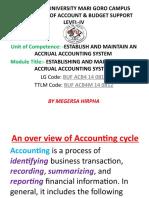 Establish & Maintain an Accural Accounting System